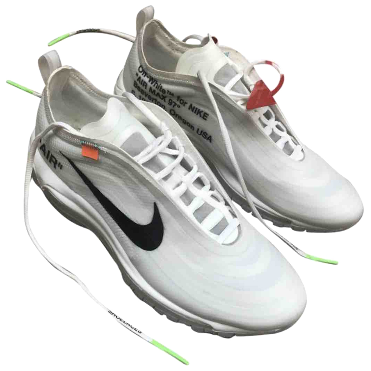 Nike X Off-white Air max 97 Sneakers in  Weiss Leder