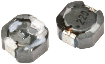 Murata , D63LCB, D63LCB Shielded Wire-wound SMD Inductor 22 μH ±20% Wire-Wound 1.34A Idc (5)