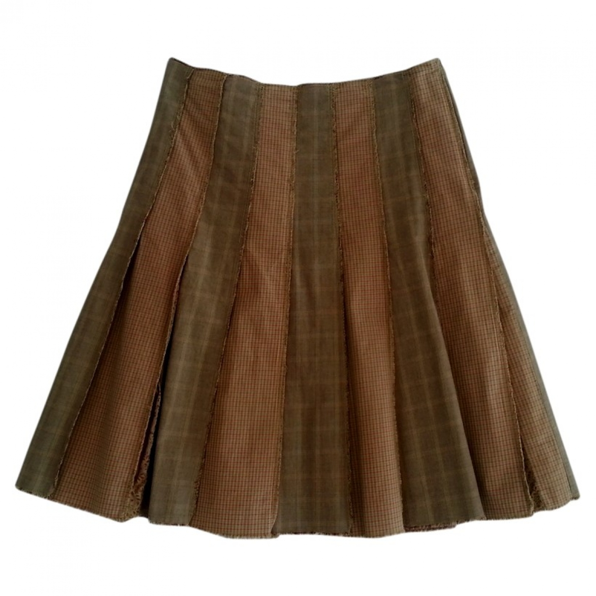 Ikks - Jupe   pour femme en coton - marron