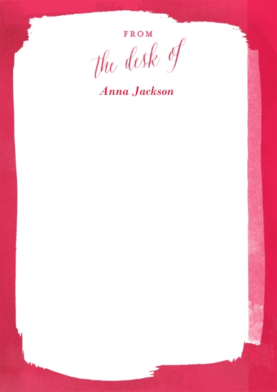 Holiday 5x7 Personal Stationery, Card & Stationery -Paint It Red