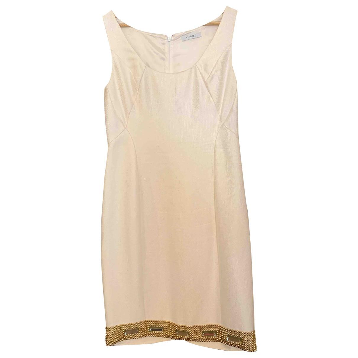 Versace - Robe   pour femme en coton - blanc