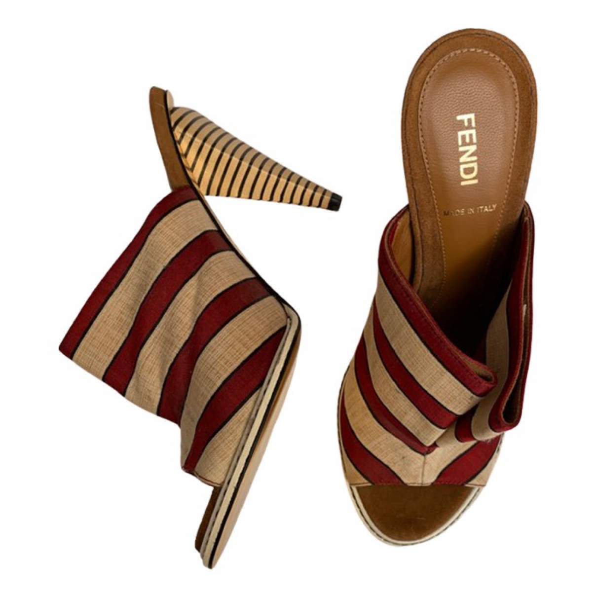 Fendi \N Ecru Cloth Sandals for Women 38.5 EU