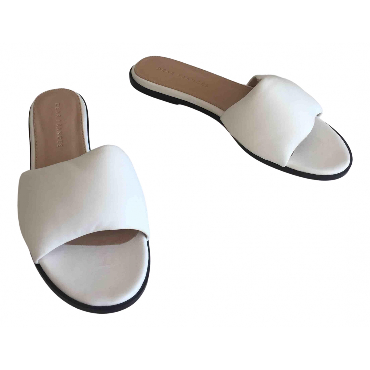 Dear Frances - Sandales   pour femme en cuir - blanc
