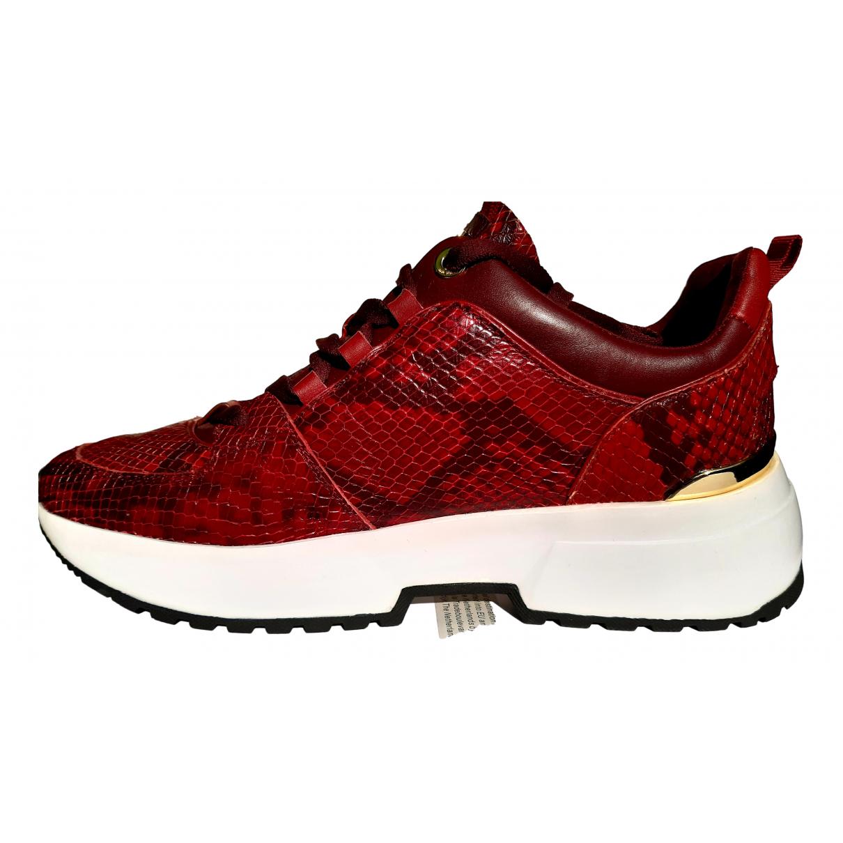 Michael Kors \N Sneakers in  Rot Leder