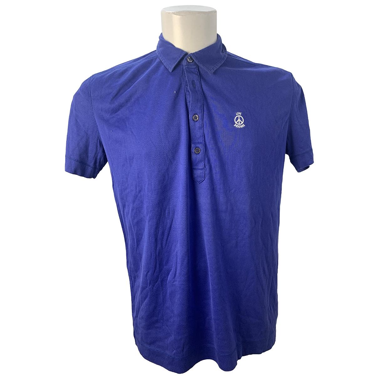 Moschino Love \N Blue Cotton Polo shirts for Men XL International