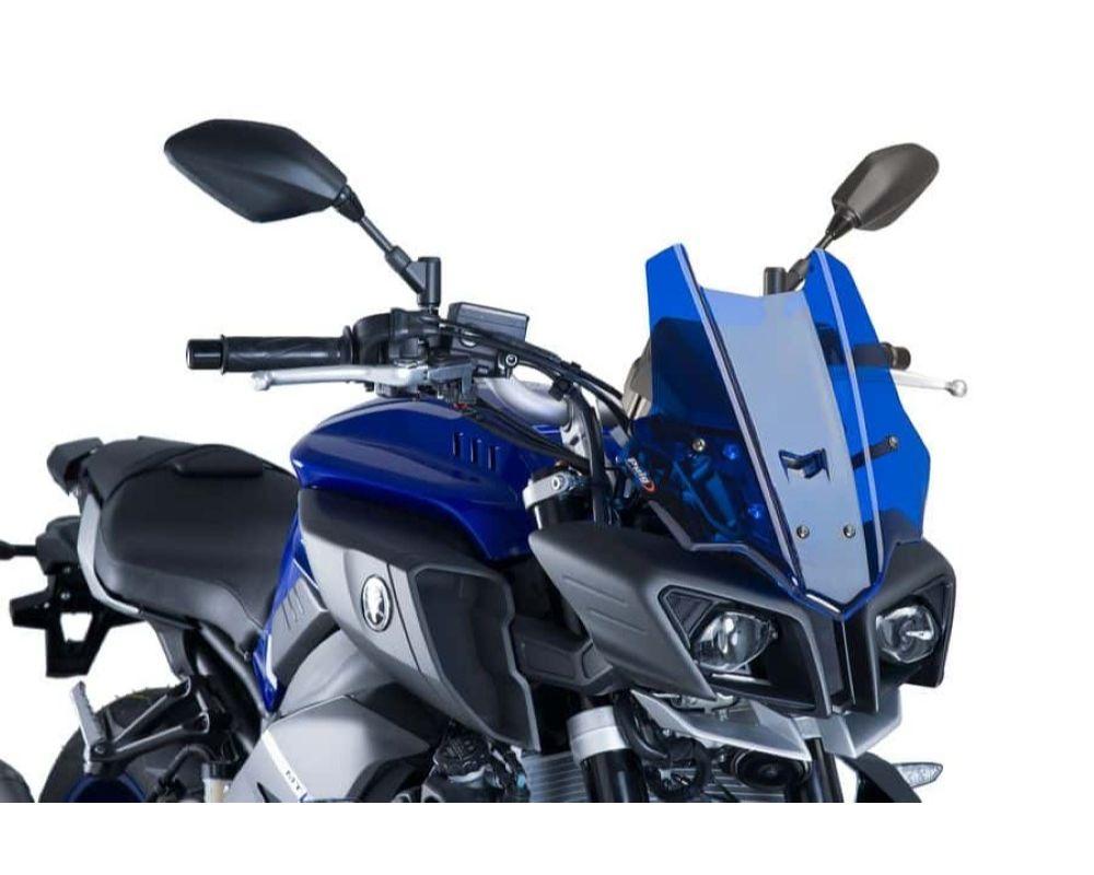 Puig 8917A Touring Windscreen - Blue Yamaha MT-10 SP 2017