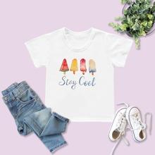 Toddler Girls Ice Cream & Slogan Graphic Tee