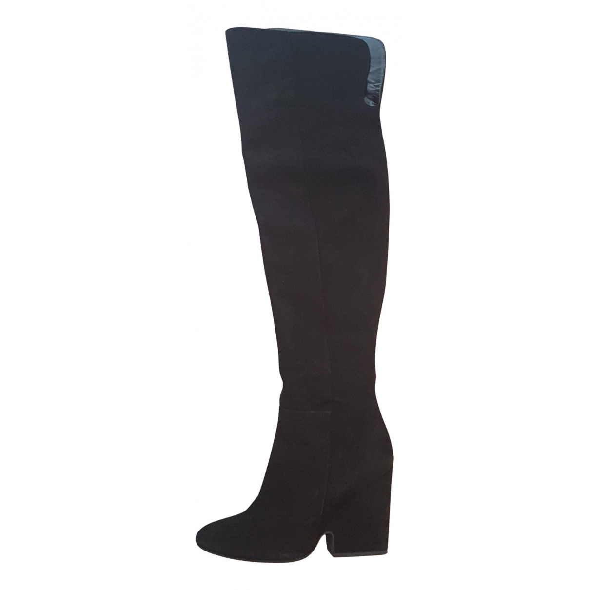 Non Signé / Unsigned N Black Suede Boots for Women 39 IT