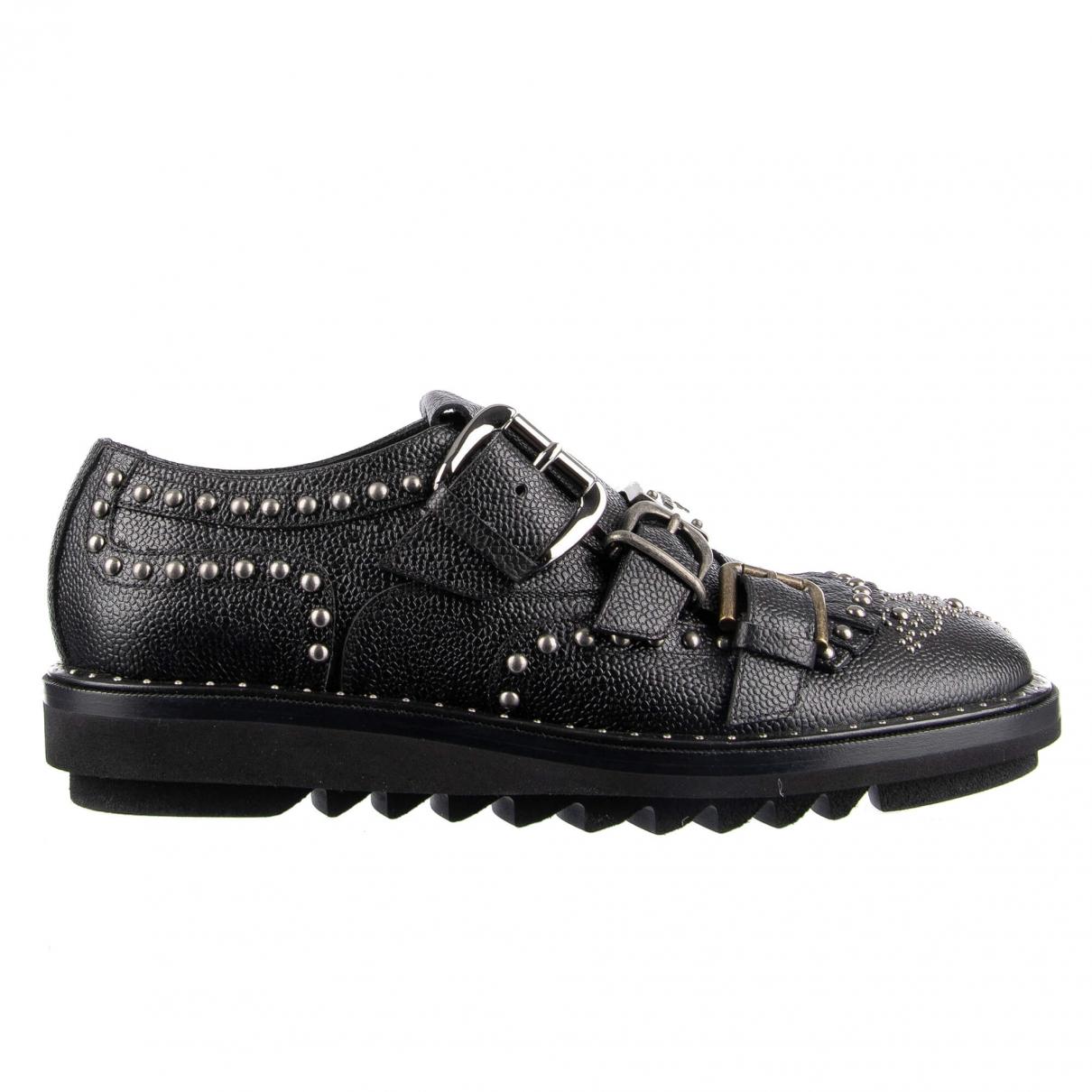 Dolce & Gabbana \N Black Leather Lace ups for Men 40 EU