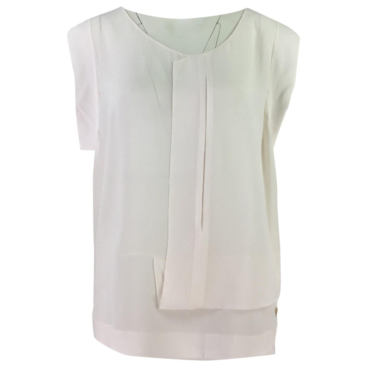 Armani Jean - Top   pour femme en soie - blanc