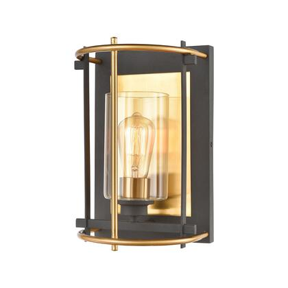 46650/1 Millington 1-Light Sconce in Charcoal with Clear