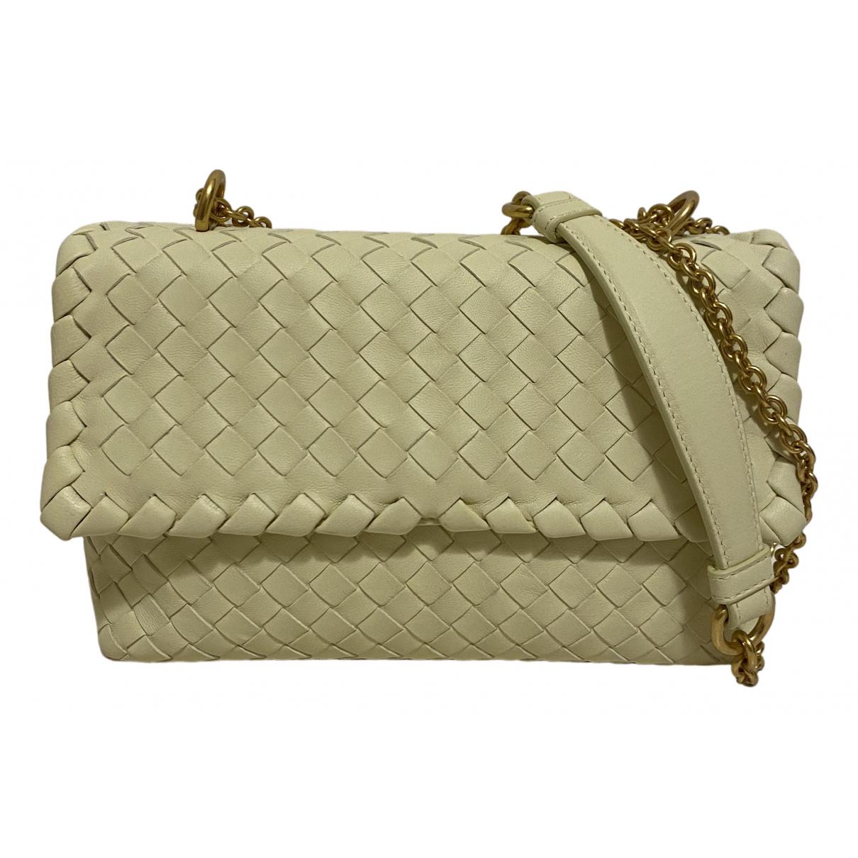 Bottega Veneta Olimpia Yellow Leather handbag for Women N