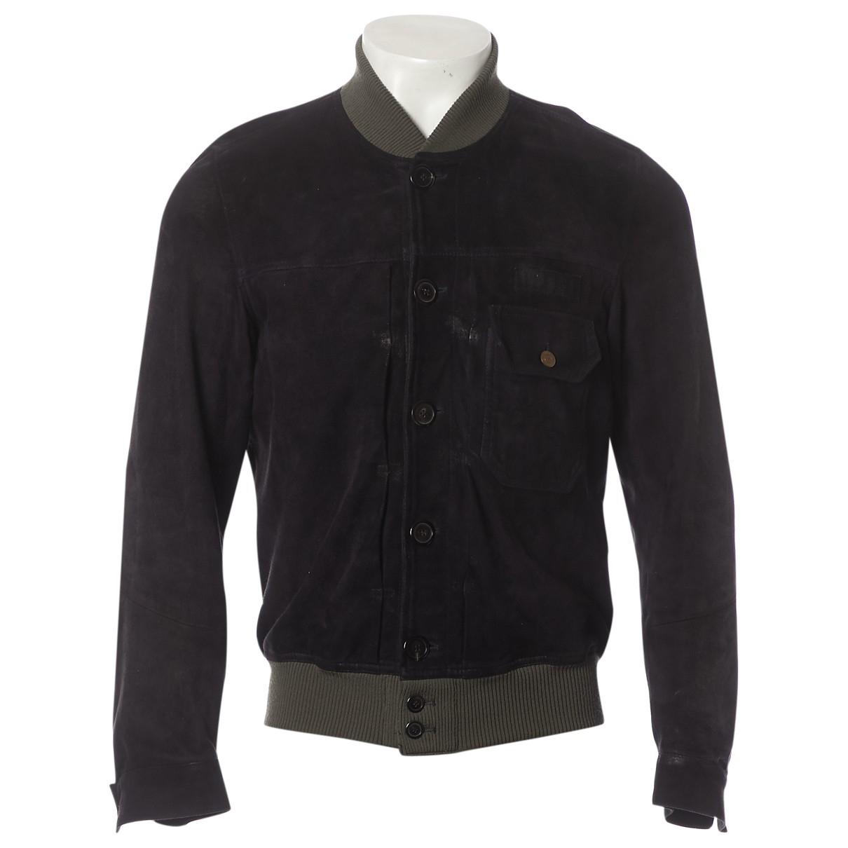 Golden Goose \N Black Leather jacket  for Men S International