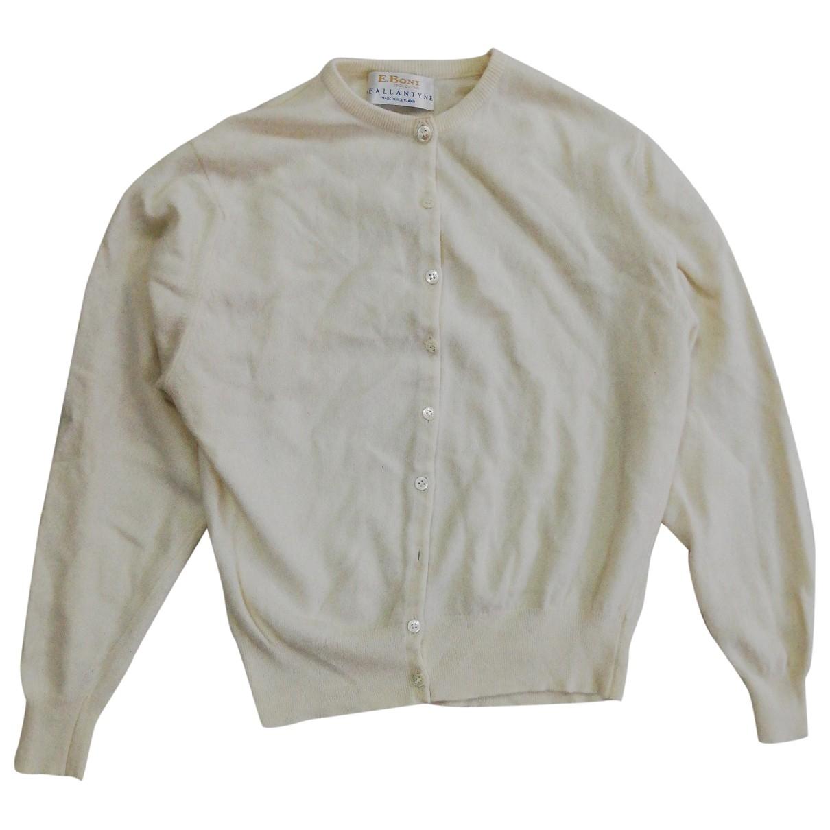 Ballantyne - Pull   pour femme en cachemire - blanc