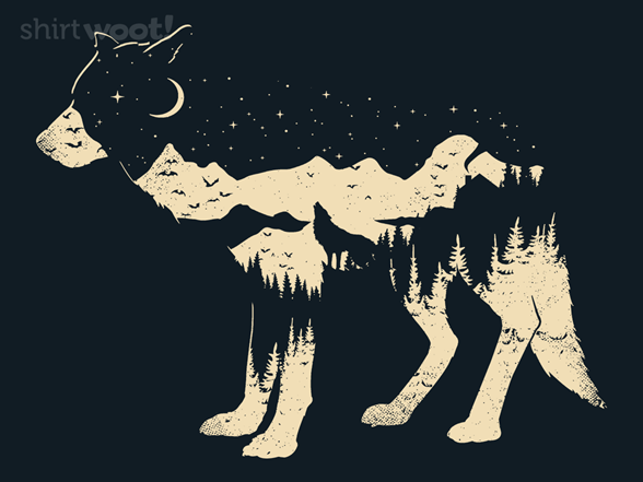 Mystic Wolf T Shirt