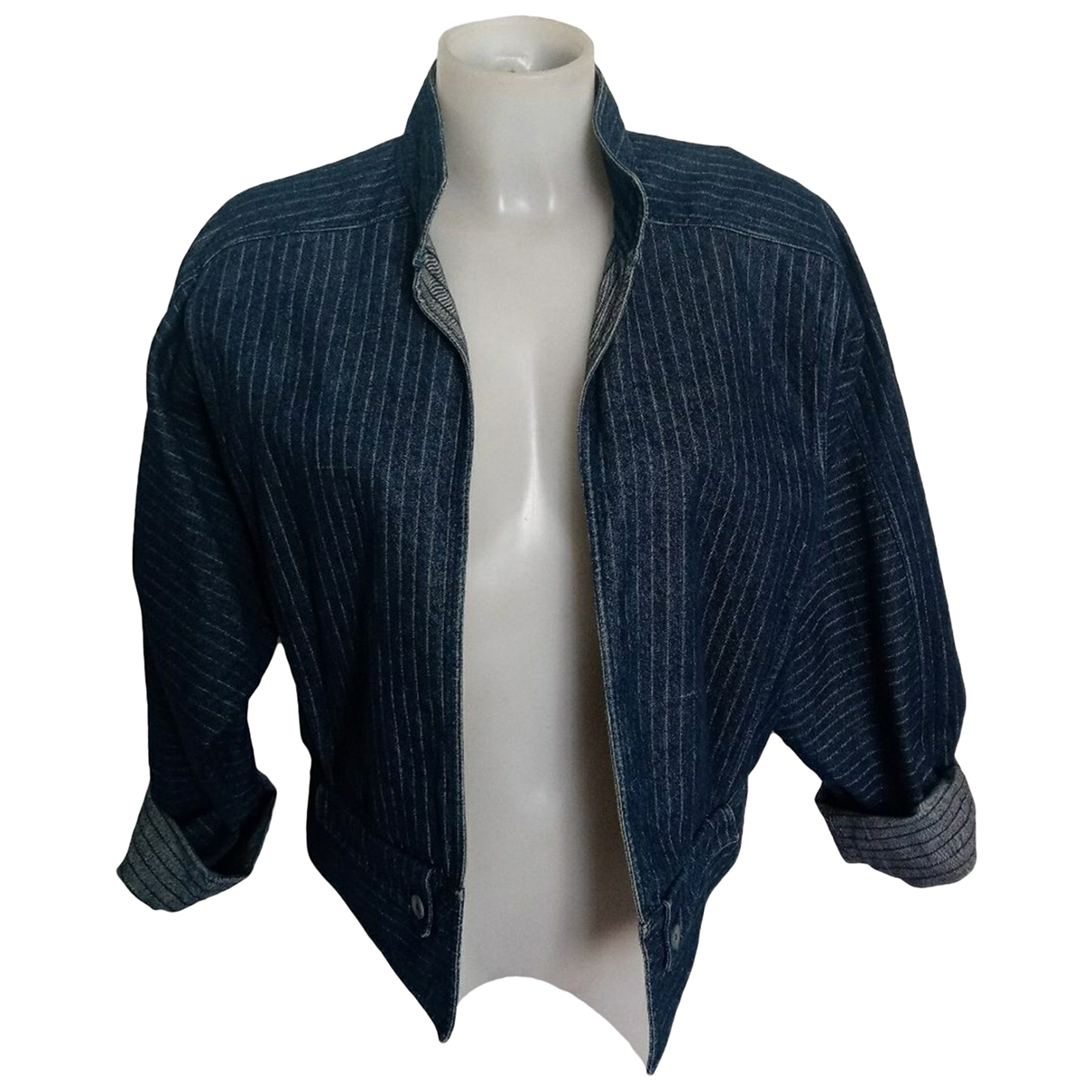 Fendi \N Blue Cotton jacket for Women 42 IT
