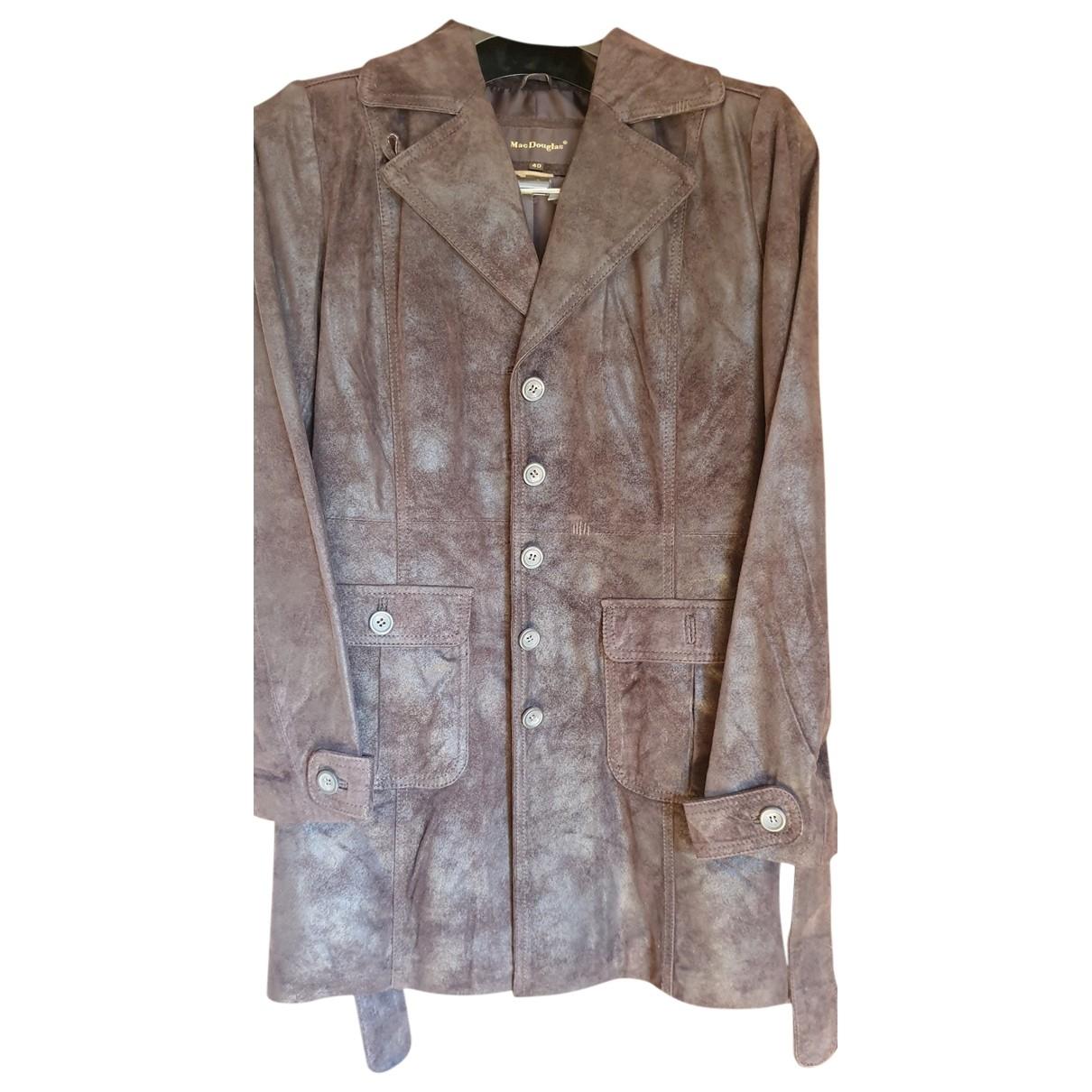 Mac Douglas - Manteau   pour femme en cuir - marron