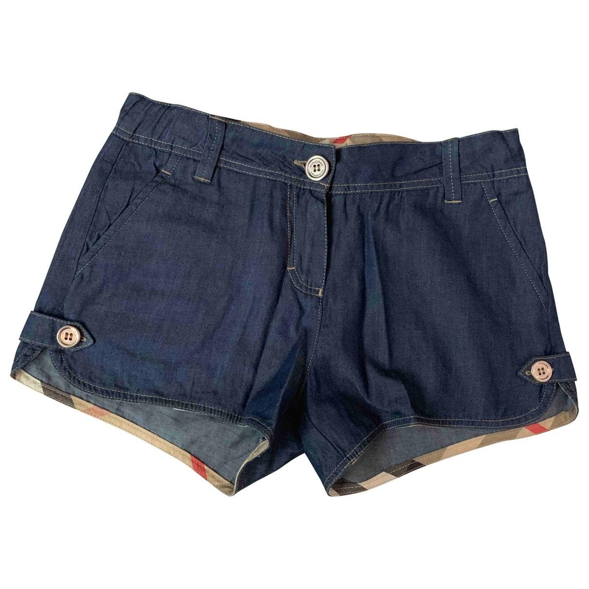 Burberry - Short   pour enfant en coton - bleu