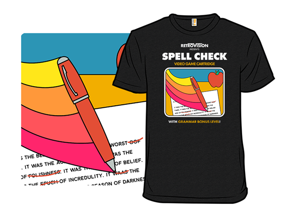Spell Check The Game T Shirt