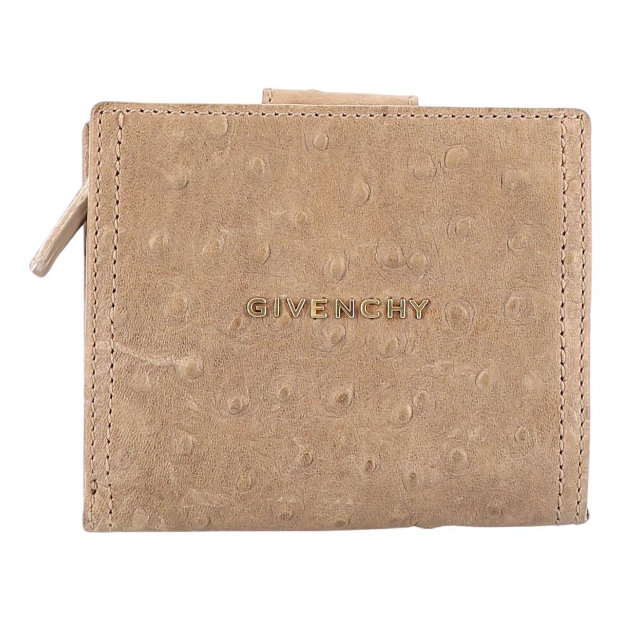 Givenchy \N Portemonnaie in  Beige Vogelstrauss