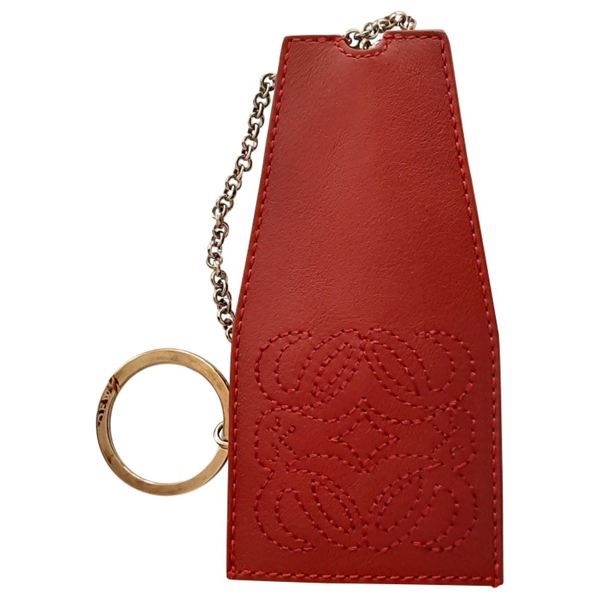 Loewe \N Red Leather Bag charms for Women \N