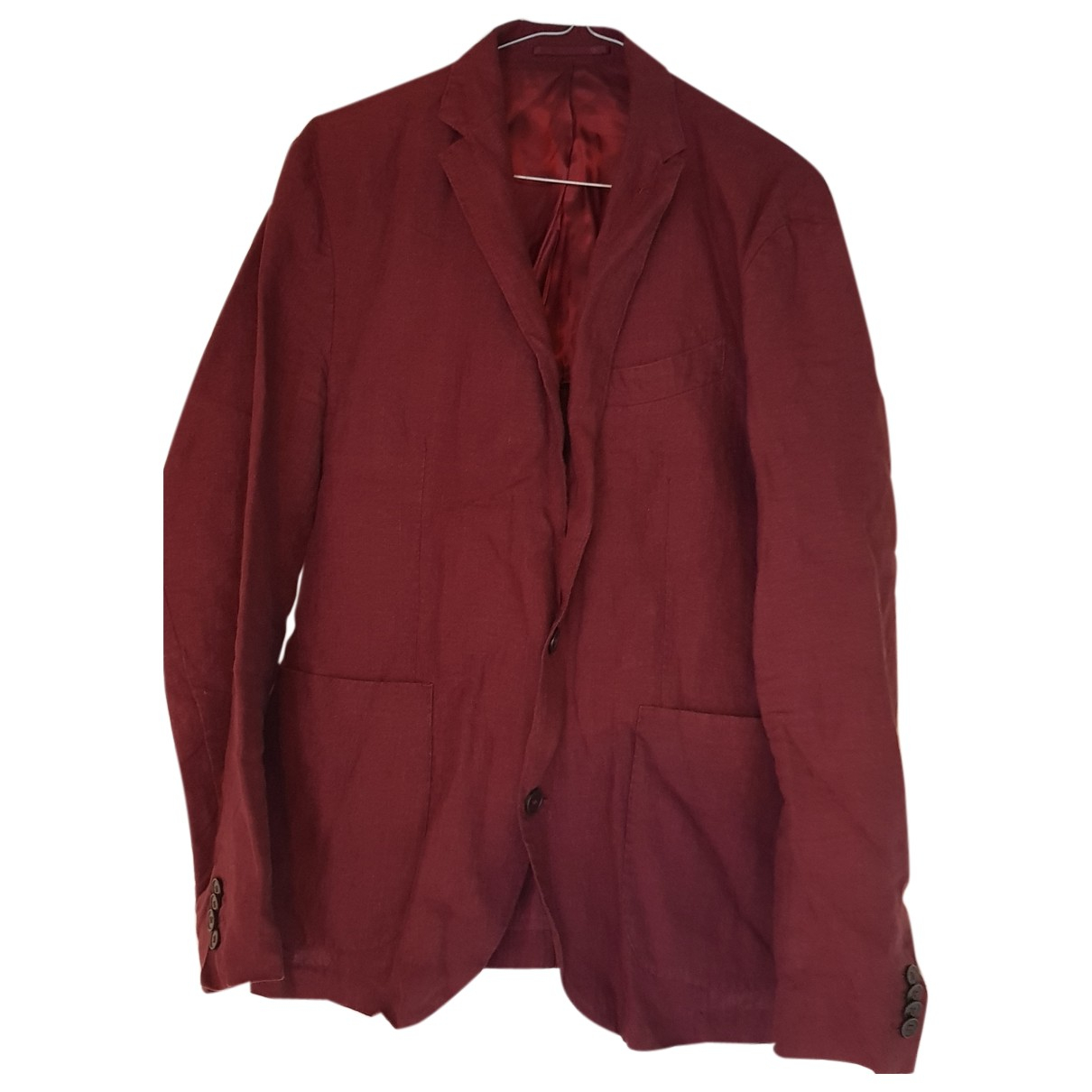 Mango N Burgundy Linen jacket  for Men 48 IT