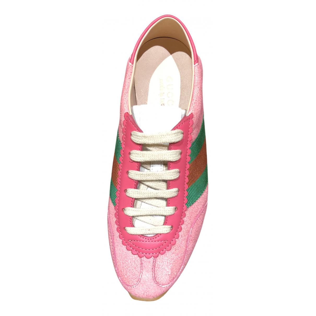 Gucci - Baskets Ace pour femme en cuir - rose