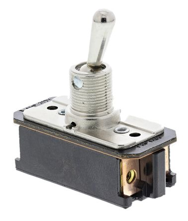 TE Connectivity DPST Toggle Switch, On-Off-On, Panel Mount