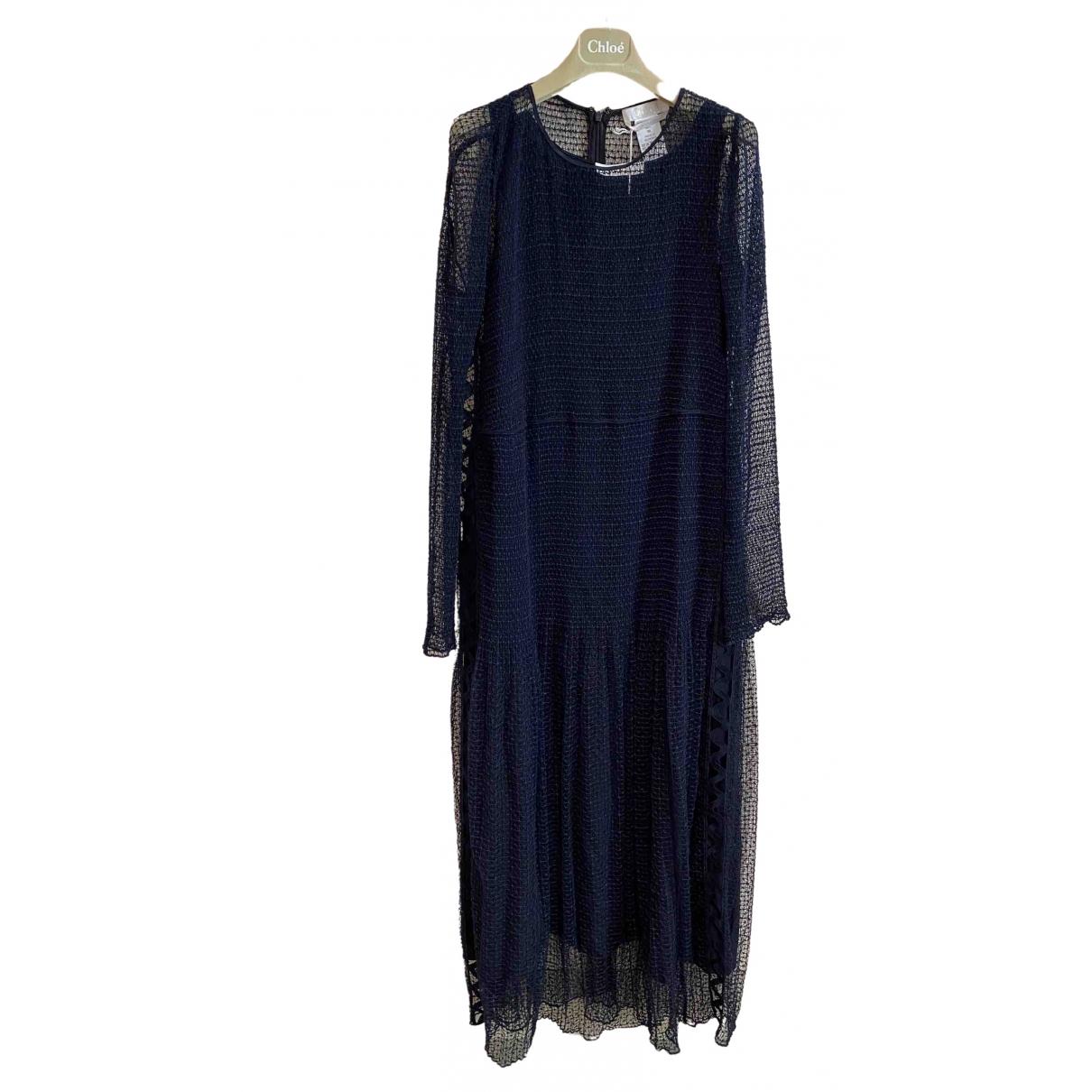 Chloe - Robe   pour femme en coton - marine