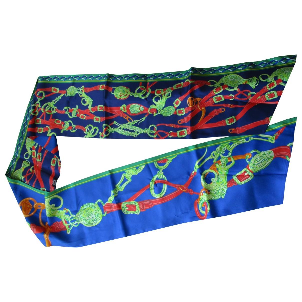 Hermes - Foulard Maxi twilly pour femme en soie - bleu