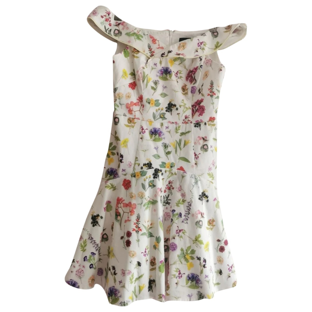 Coast \N White Cotton dress for Women 12 UK