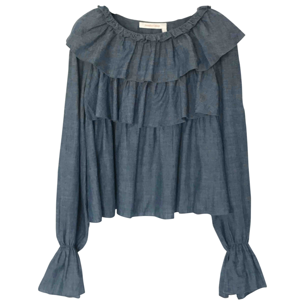 See By Chloé \N Blue Cotton  top for Women 40 FR