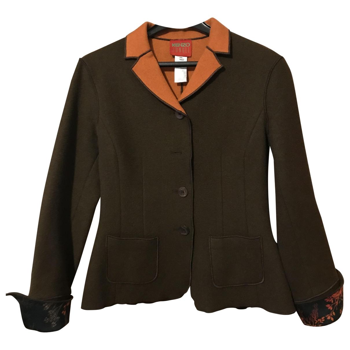 Kenzo - Veste   pour femme en laine - marron