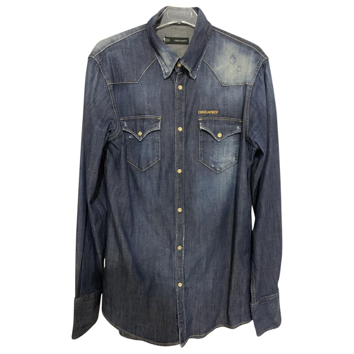 Dsquared2 - Chemises   pour homme en coton - bleu