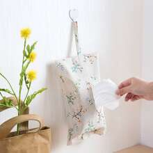 1pc Flower Print Tissue Storage Bag