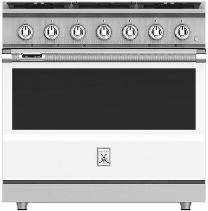 KRD365NGWH 36 Froth White Dual Fuel Natural Gas Range with 5 Sealed Burners  Cicuflame Sealed Center Burner  Simmer Flame  MarquiseDisplay  and