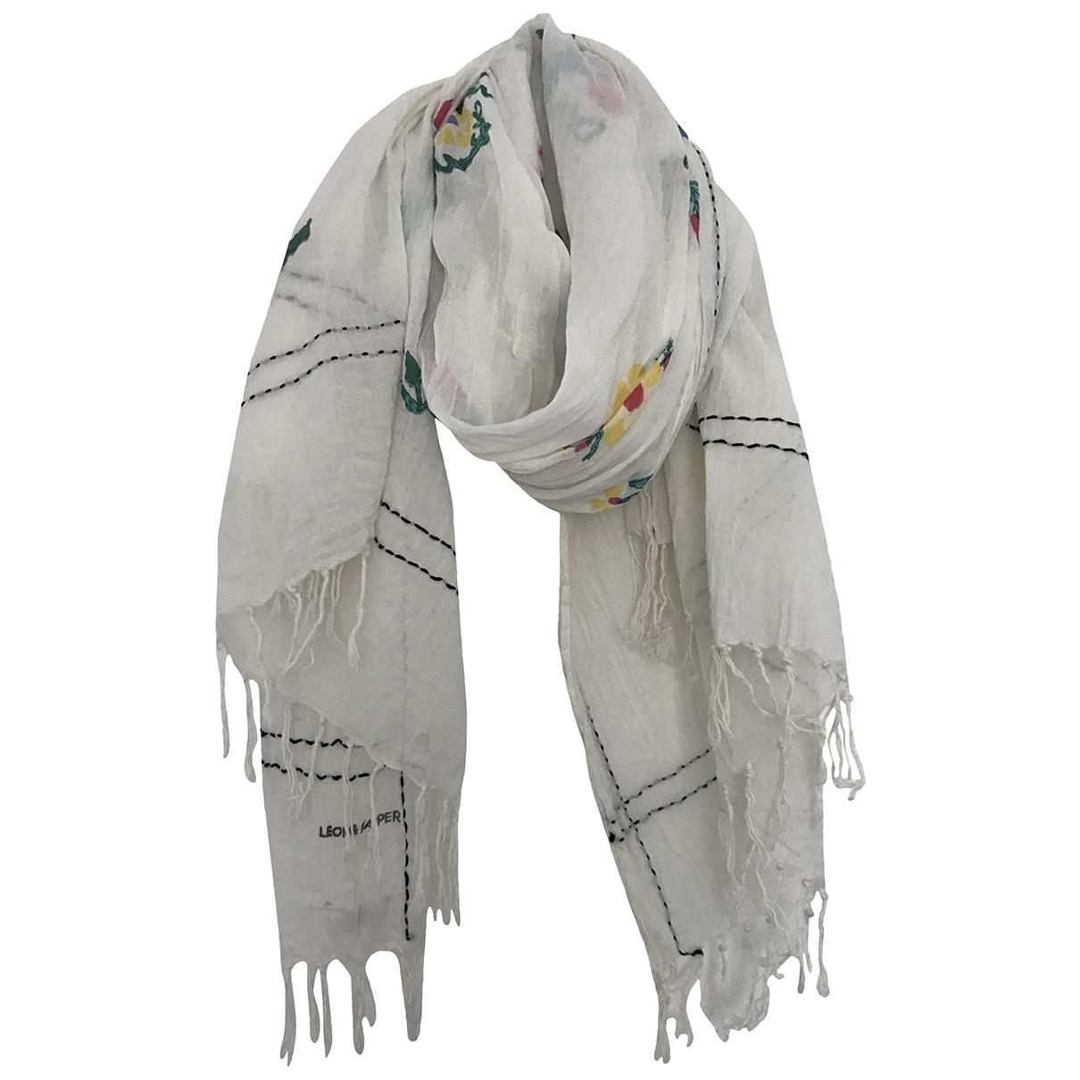 Leon Et Harper \N White Cotton Silk handkerchief for Women \N