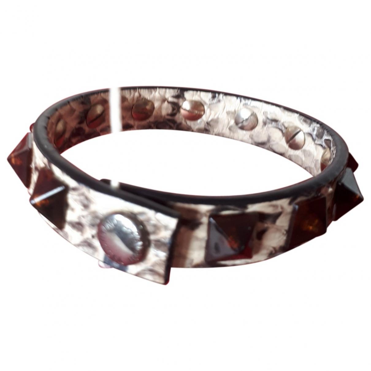 Valentino Garavani - Bracelet   pour femme en python - marron