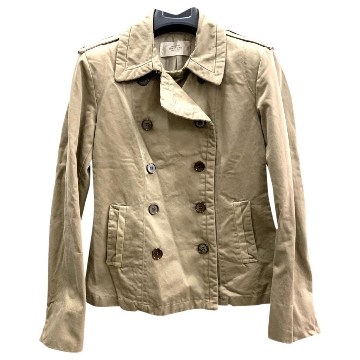 Mauro Grifoni \N Ecru Cotton jacket for Women 44 IT