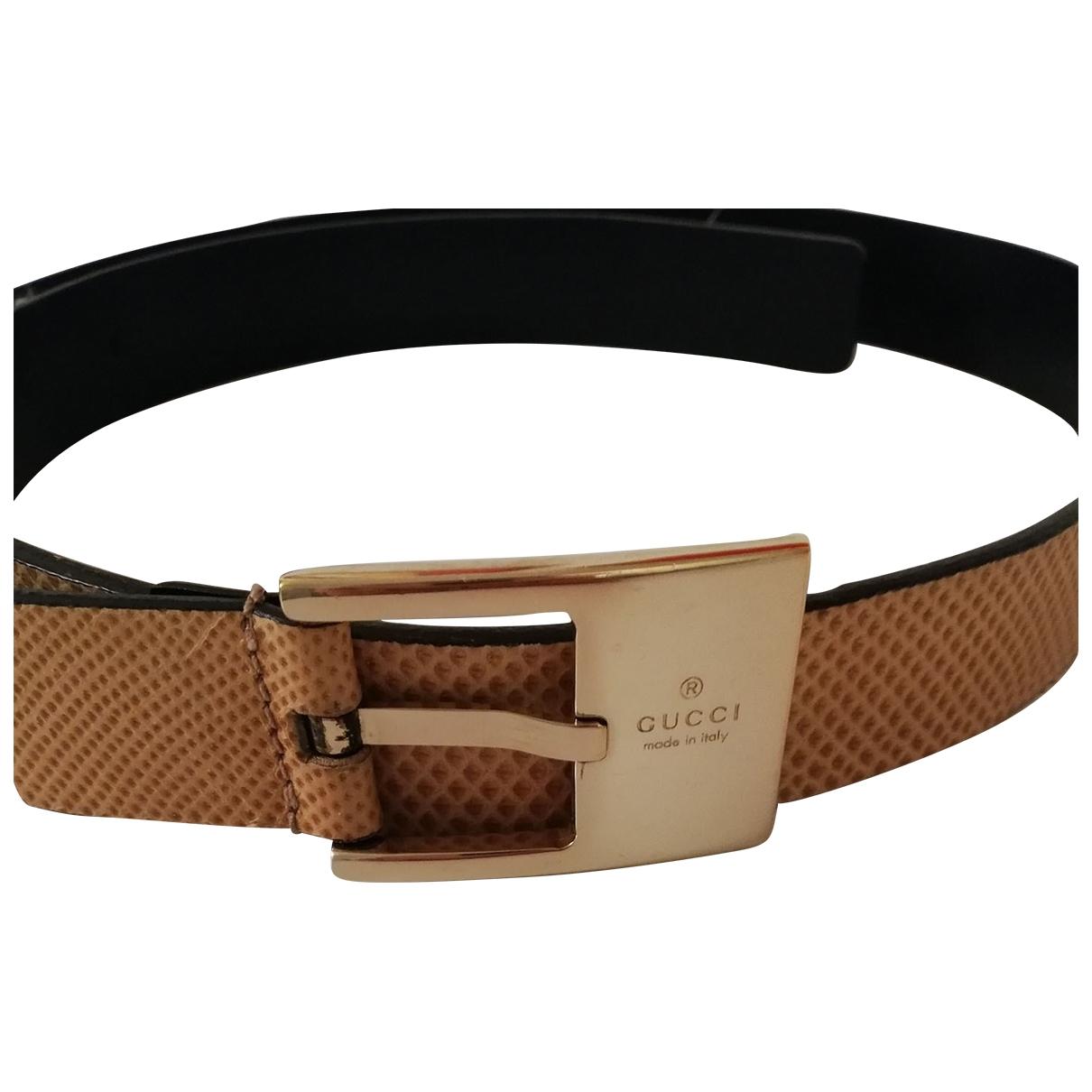 Gucci \N Beige Leather belt for Women 75 cm