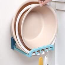 1 pieza soporte de palangana de plastico montado en pared