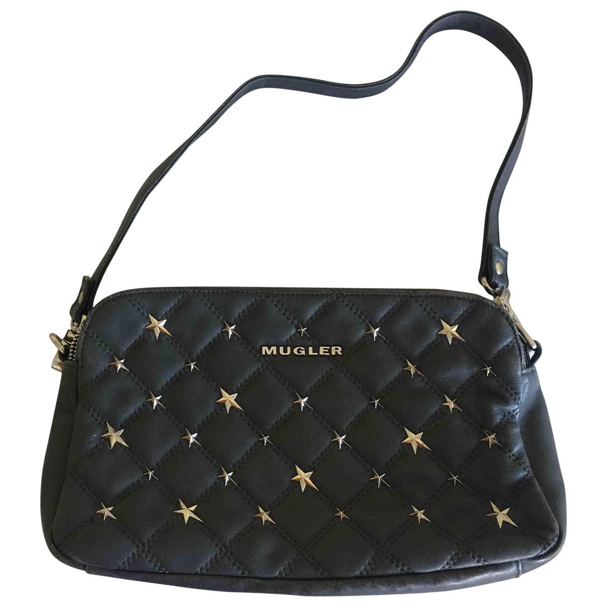 Thierry Mugler \N Grey Leather handbag for Women \N