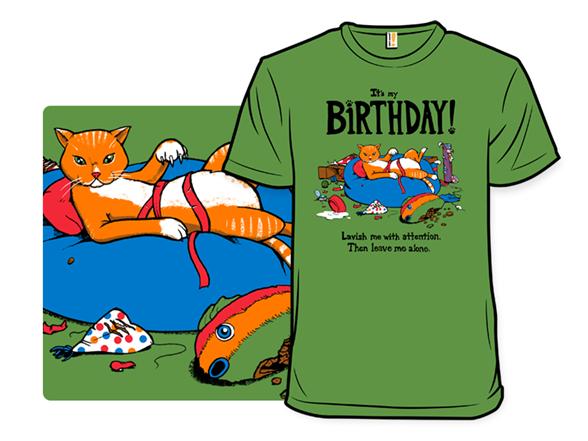 Kitty Birthday T Shirt