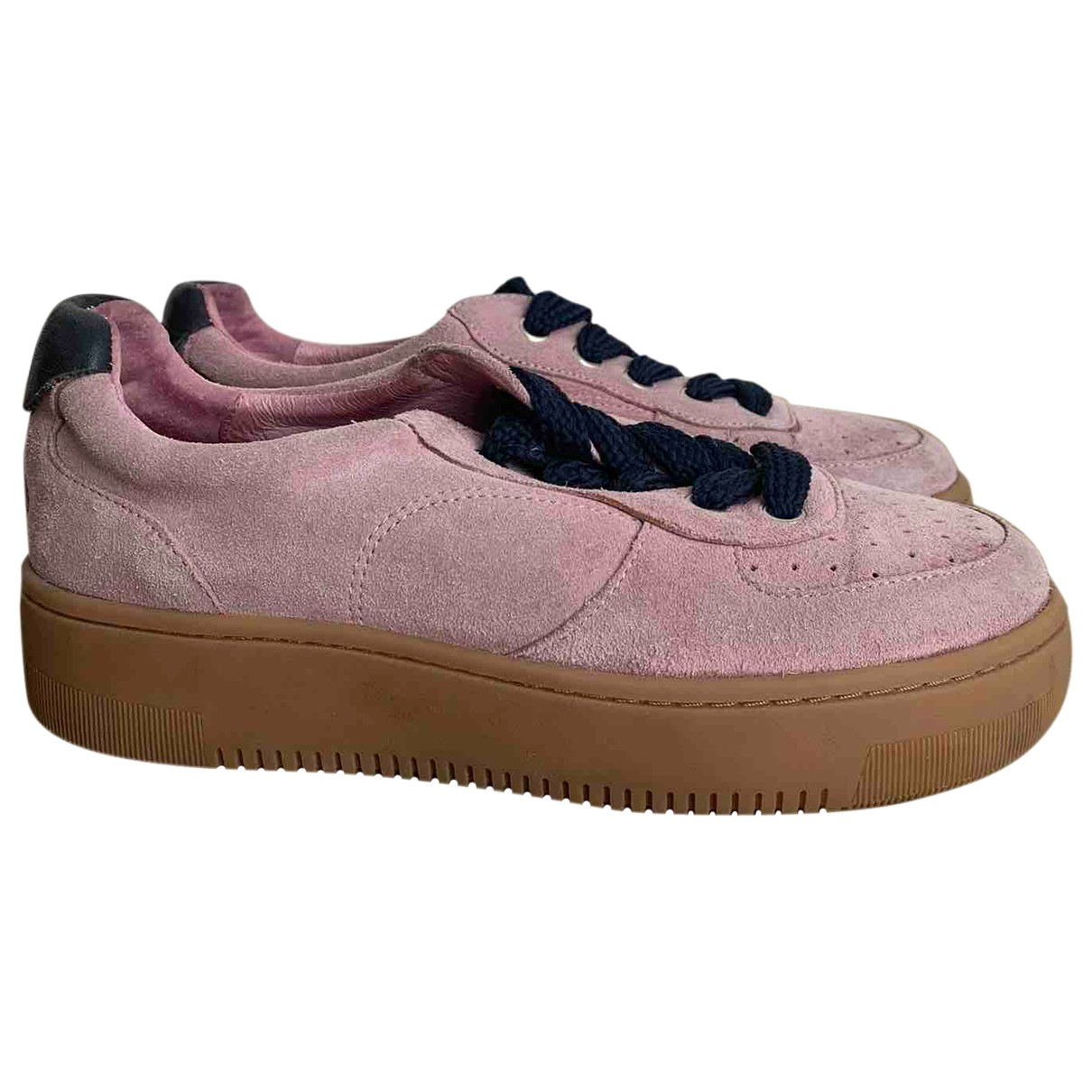 Sandro \N Sneakers in  Rosa Veloursleder