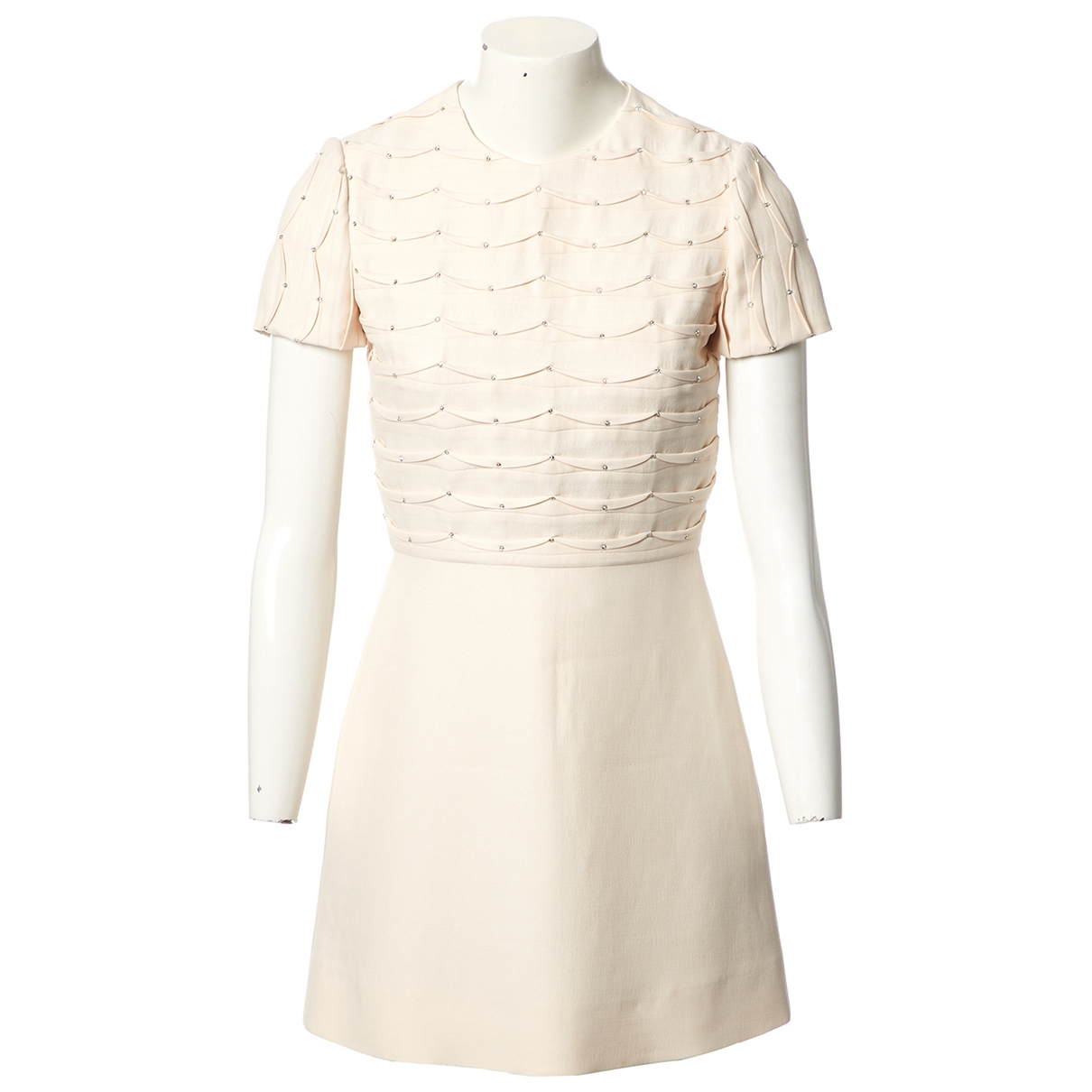 Valentino Garavani \N Ecru Wool dress for Women 38 IT