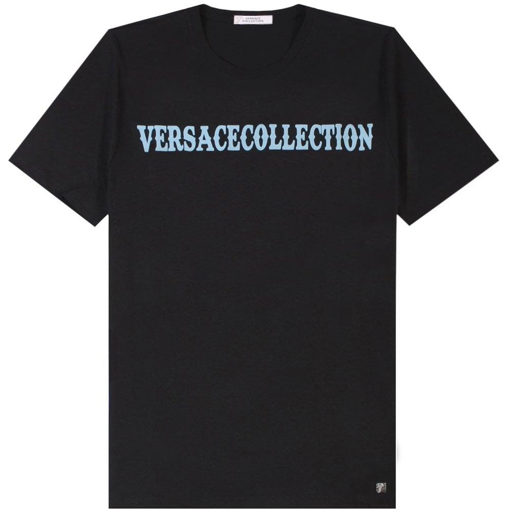 Versace Collection Logo Print T-Shirt Colour: BLACK, Size: EXTRA LARGE