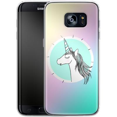 Samsung Galaxy S7 Edge Silikon Handyhuelle - Happiness Unicorn von caseable Designs