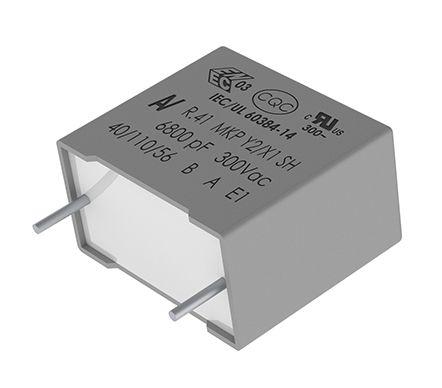 KEMET 68nF Polypropylene Capacitor PP 1 kV dc, 300 V ac ±20% Tolerance Through Hole R41 Series (1050)