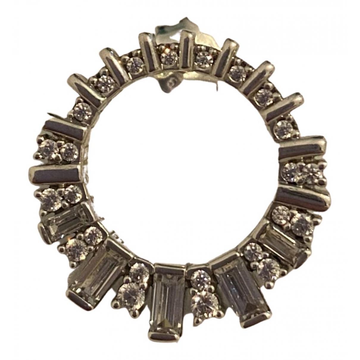 Pandora - Boucles doreilles   pour femme en argent - argente