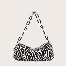 Baguette Tasche mit Zebra Muster und Kette